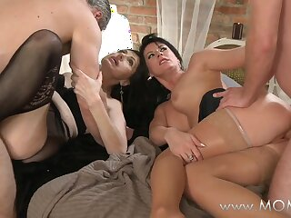 Titty Patriarch swingers upon bends
