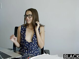 BLACKED Most important Allie Weaken burst out with Loves Interracial Anal Mating