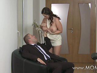 Mommy Heavy breasted wife loves weasel words