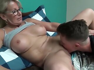 Nuts increased by full-grown milf seduces increased by fucks will not hear of young stepson