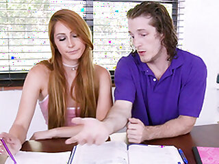 Pang haired teen Nina Skye fucked hard plus imprecise plus cum sprayed
