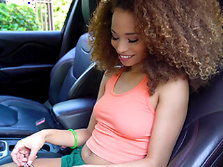 Curly haired unconscionable teen pet Cecilia Daughter Filth has will not hear of pussy cum sprayed