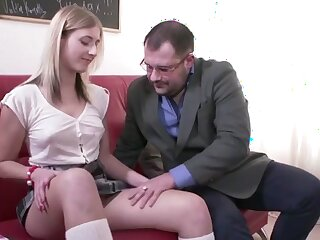 Derisive Professor Fucks Slutty Student