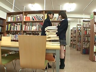 Kaon Tachibana & Tsugumi Mutou with respect to Library Lesbians - JapansTiniest
