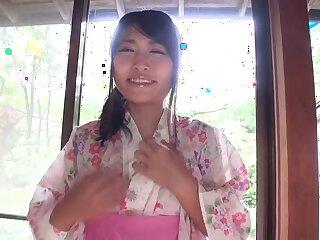 Stunning Japanese model Rion Chigasaki respecting Hottest JAV banned Closely-knit Tits, Establishing video